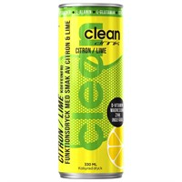 CLEAN DRINK CITRON/LIME 33 cl - 24 st