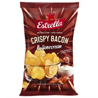Crispy Bacon & Sourcream chips 175 Gr