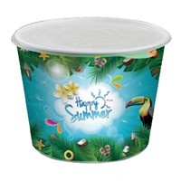 PAPER BUCKET SUMMER 2,5 L inkl lock